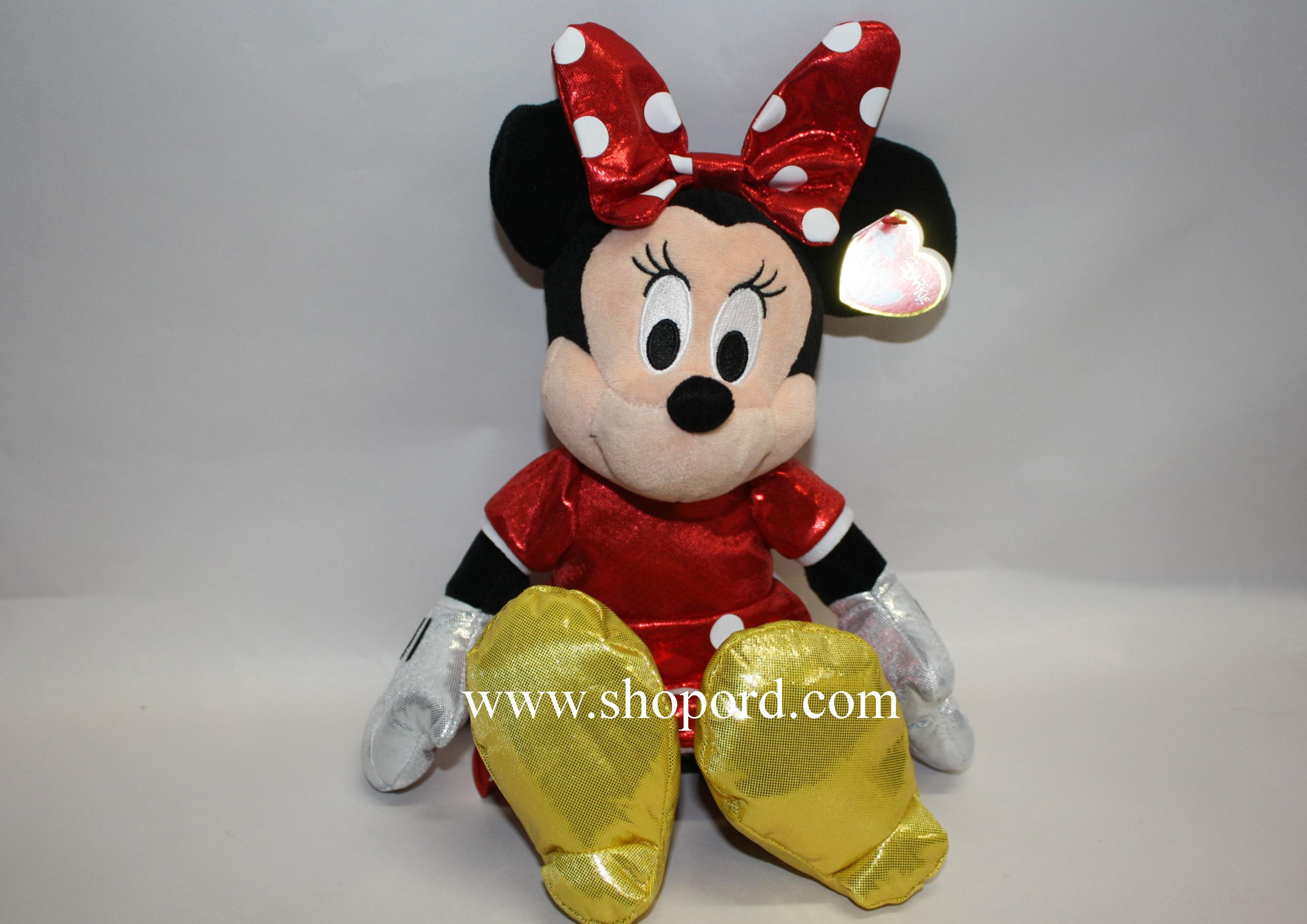 """Ty Minnie Mouse 13"""" Medium Plush with Sparkle Red 90159"""