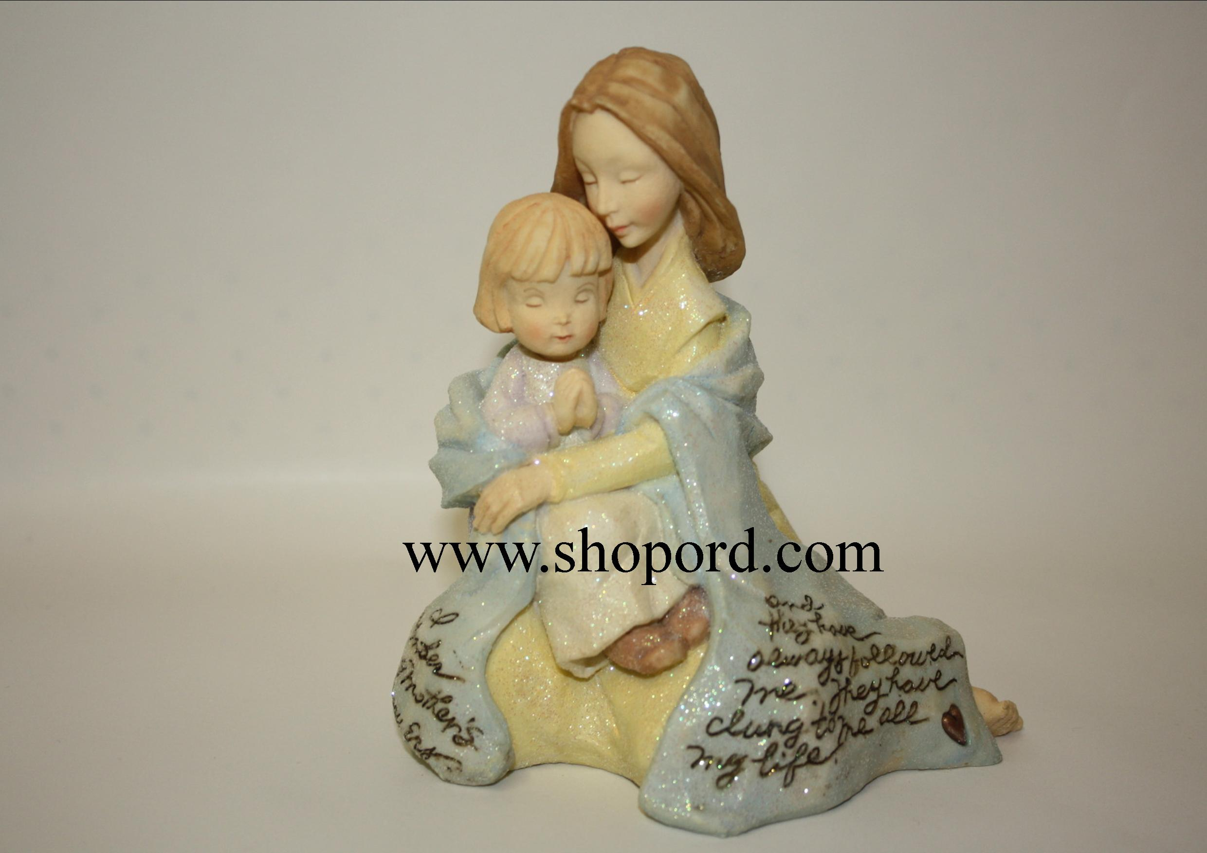 Enesco Foundations Mother and Child Praying Figurine 114260