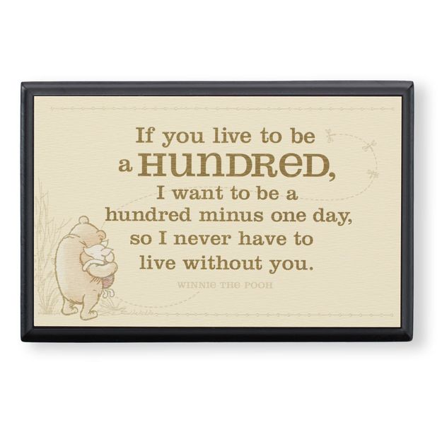 "Hallmark Winnie the Pooh ""Live to be 100"" Plaque"
