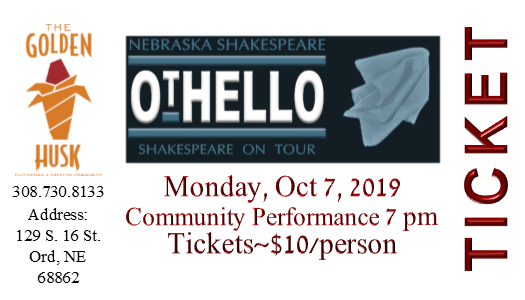 OTHELLO ~ Nebraska Shakespeare on Tour Tickets