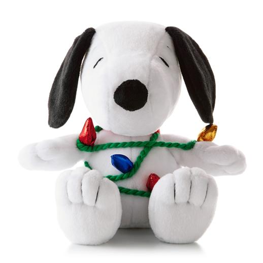 Hallmark Peanut Gang Wrapped Up In Merry Snoopy Plush XKT1273