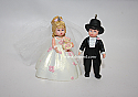 Hallmark 2005 Rosette Dreams Bride and Groom Miniature Ornament Madame Alexander QXM2082 Damaged Box