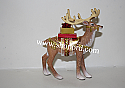 Hallmark 2016 Limited Quantity Father Christmas Reindeer Ornament QXE3141