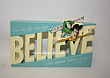 Hallmark Disney Toy Story Believe Word Cut Out Woody and Buzz Lightyear Plaque PIX2028