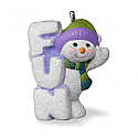 Hallmark 2016 A Little Frosty Fun Miniature Ornament QXM8544