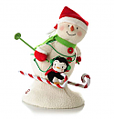 Hallmark 2012 Swooshin' Duo Techno Snowman and Penguin Skiing LPR2338