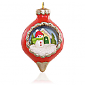 Hallmark 2015 A World Within Snowman Miniature Ornament 1st In The Series QXM8549