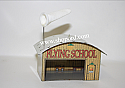 Hallmark 2001 Flying School Airplane Hangar Ornament QX8172