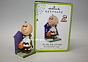 Hallmark 2011 A Little Bite of Fright Halloween Ornament Charlie Brown in The Peanuts Gang QFO5227