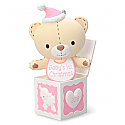 Hallmark 2016 Baby Girls First Christmas Teddy Bear In The Box Ornament QGO1254