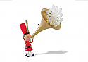 Hallmark 2014 Sound the Trumpet Customer Appreciation Ornament LPR3353