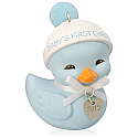 Hallmark 2015 Baby Boys First Christmas Duck Ornament QGO1069