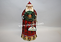 Jim Shore A Christmas Welcome Santa with Pineapple Wreath Figurine 4017660