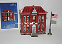 Hallmark 2003 Schoolhouse And Flagpole Ornament 5th in the Town and Country Series QX8247