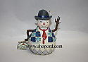Jim Shore Dashing Through The Snow Small Snowman with Tie Figurine 4022930