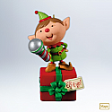 Hallmark 2012 Voice Changing Elf Ornament QXG4034