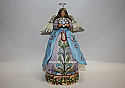 Jim Shore Angel Of Hope Angel with Star Pattern Blue Quilt Skirt Figurine 4011849