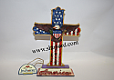 Jim Shore God Bless America Patriotic Red White and Blue Cross Figurine 4025827