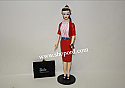 Hallmark 2001 Barbie In Busy Gal Fashion Ornament Set of 2 Figurine and Portfolio Set 8th In The Series QX6965
