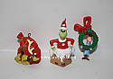 Hallmark 1999 Merry Grinch Mas Dr Seuss Set Of 3 Miniature Ornament QXI4627