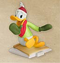 Hallmark 2012 Cool Duck Donald Ready Set Snow Ornament  QRP5914