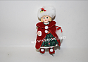 Hallmark 2000 Christmas Holly Ornament 5th In The Madame Alexander Series QX6611 Slightly Damage Box
