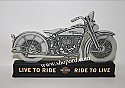 Hallmark Harley Davidson Motorcycle Silhouette Live To Ride Ride To Live DAV1414