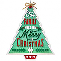 Hallmark 2017 Keepsake Our Family...Our Christmas Ornament QGO11112