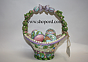 Jim Shore Welcome Spring Set of 5 Eighth Annual Easter Basket Figurine 4028528