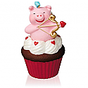 Hallmark 2016 Little Cupiggy Ornament 7th In The Keepsake Cupcake Series QHA1042
