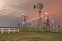 "24""x30"" Wall Photograph - Rainbow at Comstock Windmills"