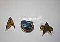 Hallmark 2004 Star Trek Insignias set of 3 Miniature Ornament QXM5211