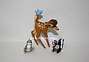 Hallmark 2000 Frolicking Friends Bambi Thumper And Flower Disney Spring Ornament QEO8434