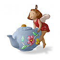 Hallmark 2016 A Spot Of Tea Fairy Teapot Miniature Ornament QXM8574