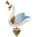 Hallmark 2017 Keepsake Seven Swans-A-Swimming Ornament QX9345