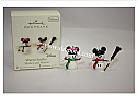 Hallmark 2007 Warm Smiles Disney Mickey and Minnie Miniature Ornament set of 2 QXM4217