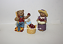 Hallmark 1997 Merry Miniatures Apple Harvest Figurine Set of 3 QFM8585