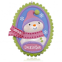 Hallmark 2015 Oh Snow Sweet Daughter Snowman Ornament QGO1227