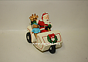 Hallmark 1999 Santas Golf Cart Ornament 21st In The Here Comes Santa Series QX6337 Damaged Box