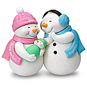 Hallmark 2016 New Parents And Baby Snowmen Ornament QGO1274