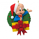 Hallmark 2015 Merry Christmas Folks Ornament Porky Pig Looney Tunes QXI2099
