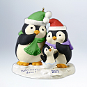 Hallmark 2012 Baby Makes Three Ornament QXG4744