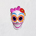 Hallmark 2018 Keepsake Sugar Skull Gal Miniature Ornament QFO5263