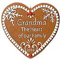 Hallmark 2016 Grandma Gingerbread Heart Ornament QGO1164