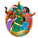 Hallmark 2016 Blessed By The Season African American Family Ornament QSM7804