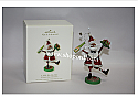 Hallmark 2008 A Jolly Ho Ho Ho Ornament A Santa Claus Christmas QP1604 Damaged Box