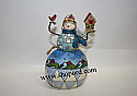 Jim Shore Snowman Bird Birdhouse Hanging Ornament 4023465