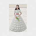 Hallmark 2014 Limited Quantities Scarlett's White Dress Gone With The Wind Ornament QXE3733