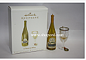 Hallmark 2006 A Toast to Wine set of 2 (white) QXG2296 Box Damaged