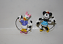Hallmark 1999 Girl Talk Set Of 2 Miniature Ornament Minnie Mouse and Daisy Duck QXD4069